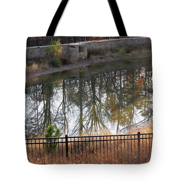 Tote Bag featuring the photograph Upside Down by Pete Trenholm