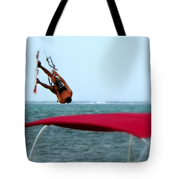 Upside Down World  Tote Bag by Karen Wiles