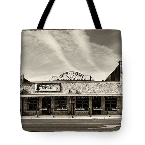 Uptown Blanco Panorama In The Texas Hill Country Tote Bag