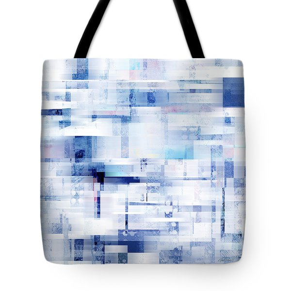 Uptown Blues On Square -abstract -art Tote Bag