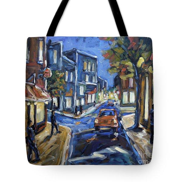 Urban Avenue By Prankearts Tote Bag by Richard T Pranke