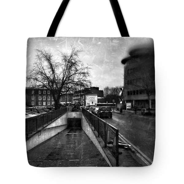 Tote Bag featuring the digital art Urban City  by Fine Art By Andrew David