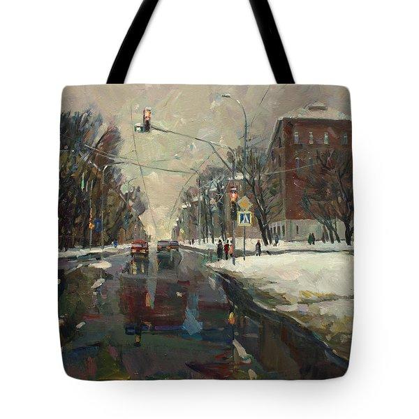 Urban Crossroad Tote Bag