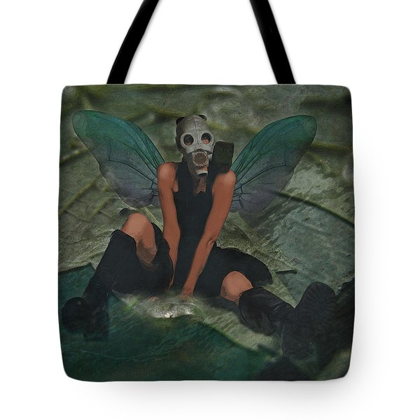 Tote Bag featuring the digital art Urban Fairy by Galen Valle