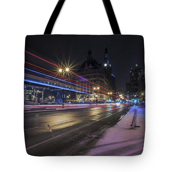 Urban Holiday  Tote Bag by CJ Schmit