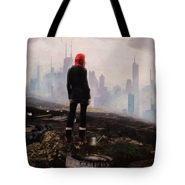 Tote Bag featuring the digital art Urban Human by Galen Valle