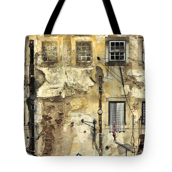 Tote Bag featuring the painting Urban Lisbon by David Letts