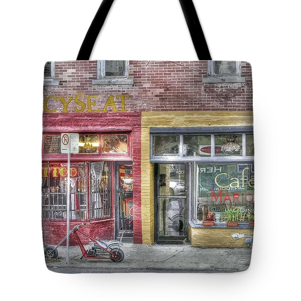 Urban Mercyseat Oil Painting Tote Bag by Liane Wright