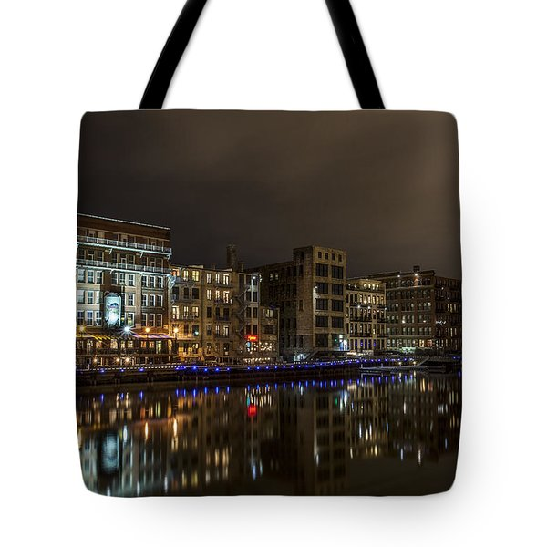 Urban River Reflected Tote Bag
