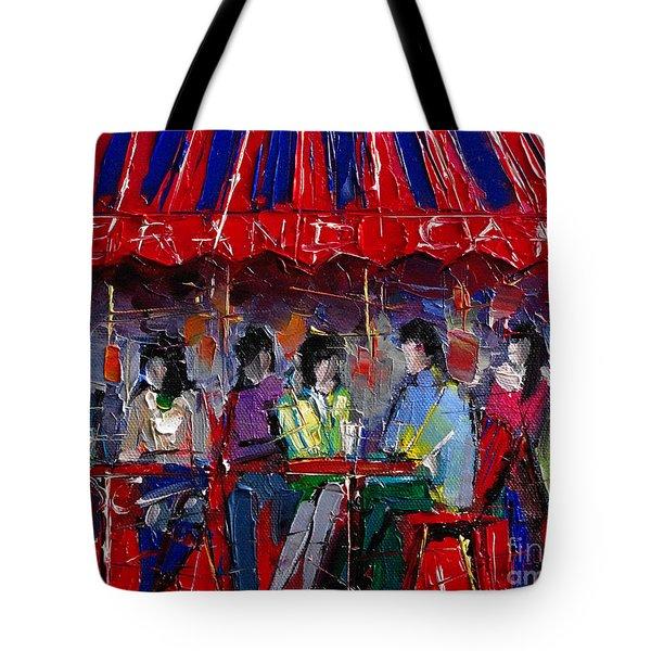 Urban Story - Grand Cafe Tote Bag by Mona Edulesco