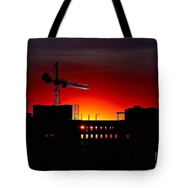 Urban Sunrise Tote Bag by Linda Bianic