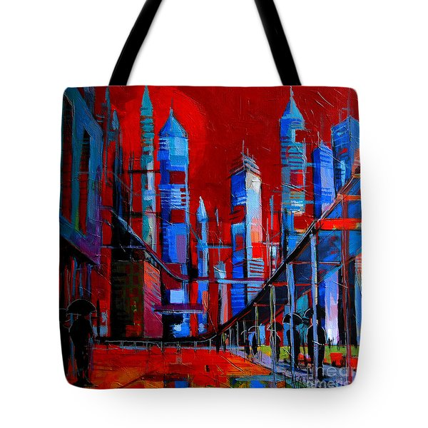 Urban Vision - City Of The Future Tote Bag