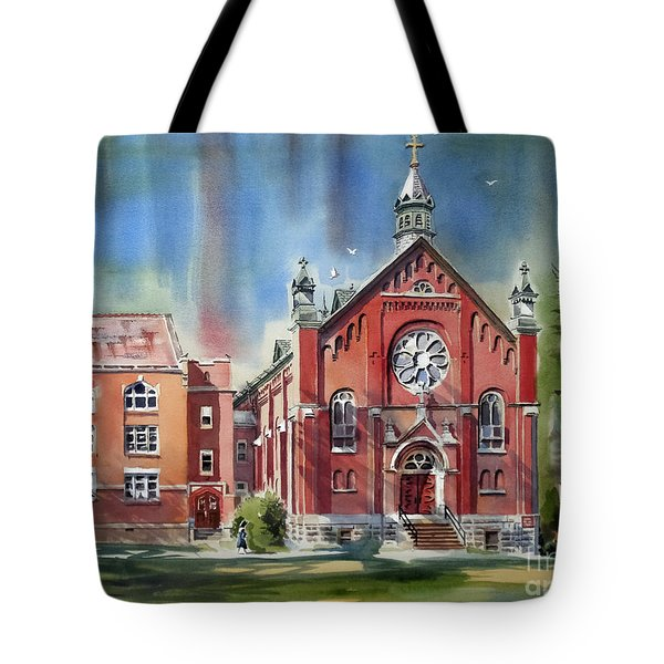 Ursuline Academy With Doves Tote Bag
