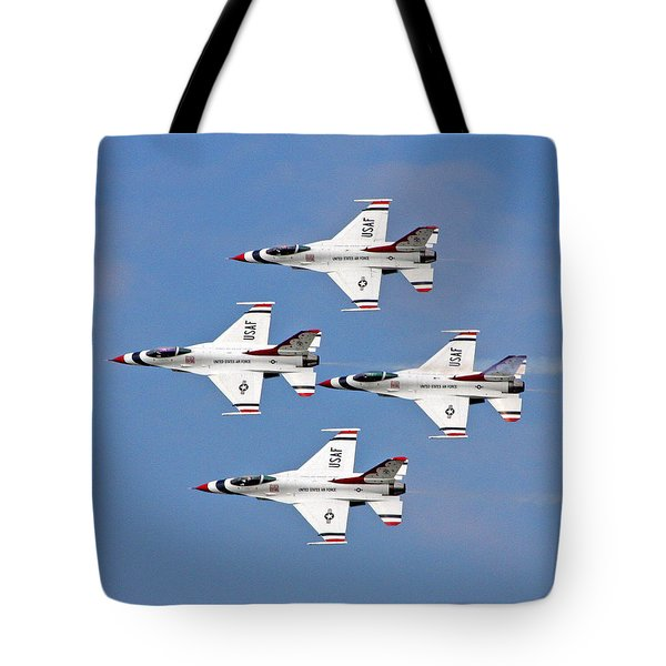 Us Air Force Thunderbirds Tote Bag by John Freidenberg