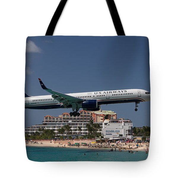 U S Airways At St Maarten Tote Bag