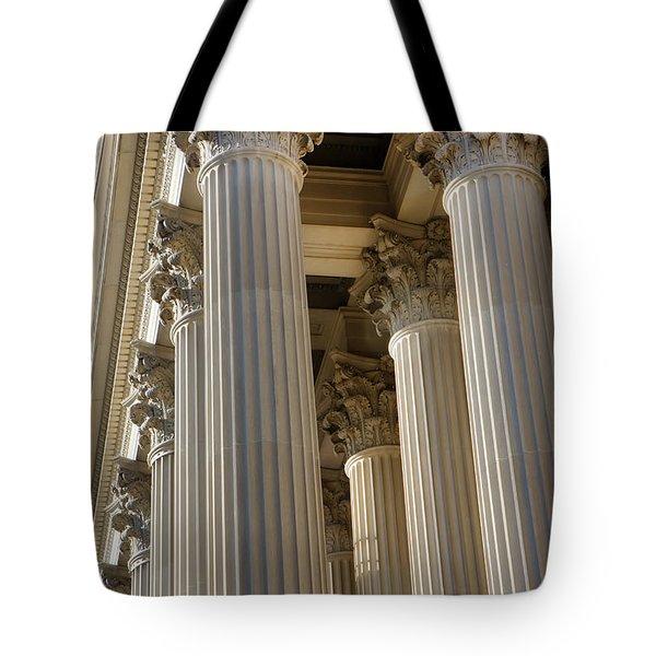 Us Archive Columns Tote Bag