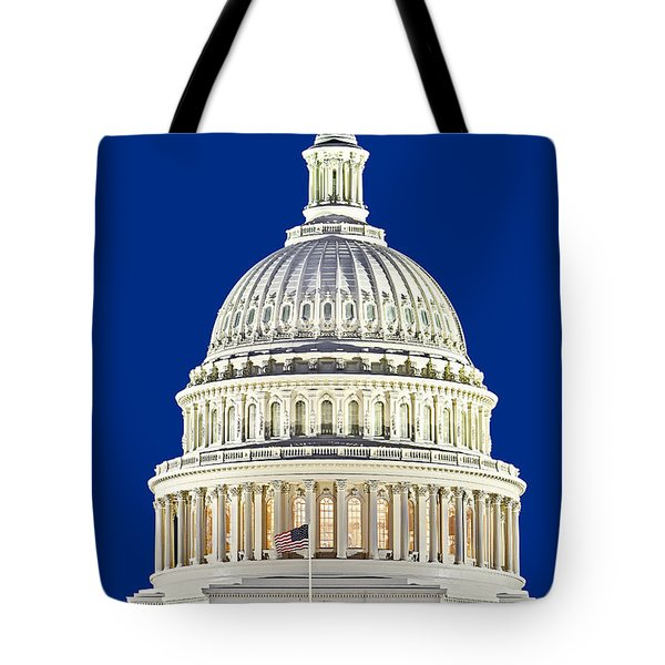 Us Capitol Dome Tote Bag by Susan Candelario