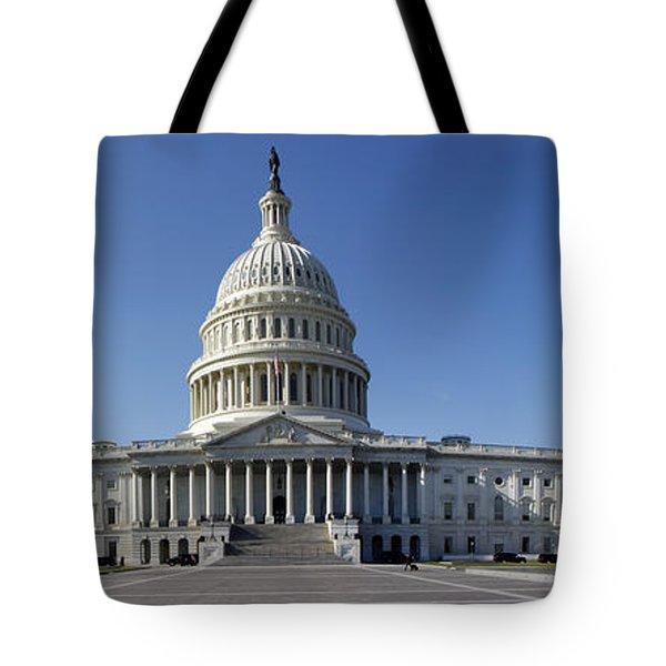 Us Capitol Panorama Tote Bag
