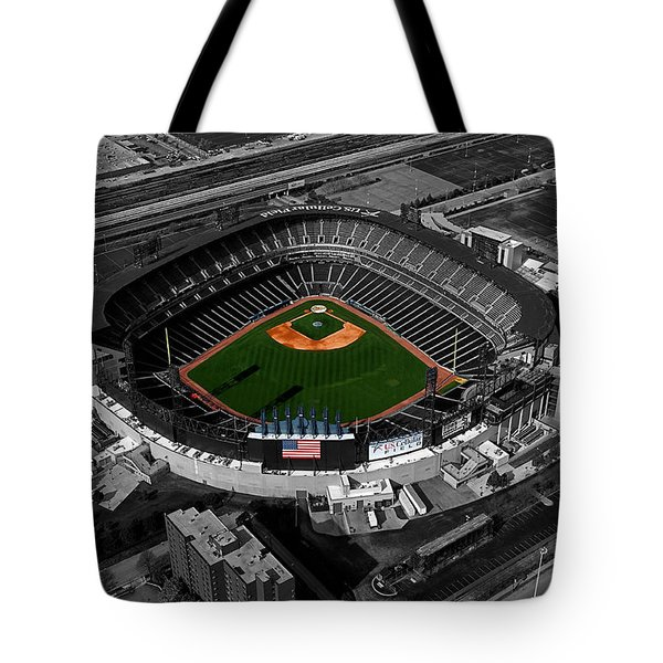 Us Cellular Field Chicago Sports 08 Selective Coloring Digital Art Tote Bag by Thomas Woolworth