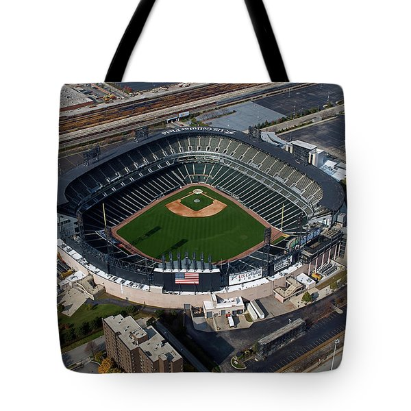 Us Cellular Field Chicago Sports 08 Tote Bag by Thomas Woolworth