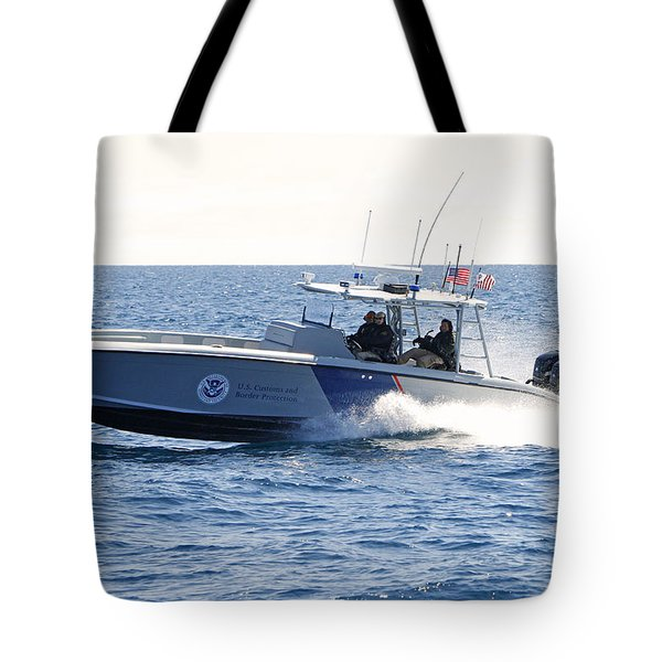Us Customs At Work Tote Bag by Shoal Hollingsworth