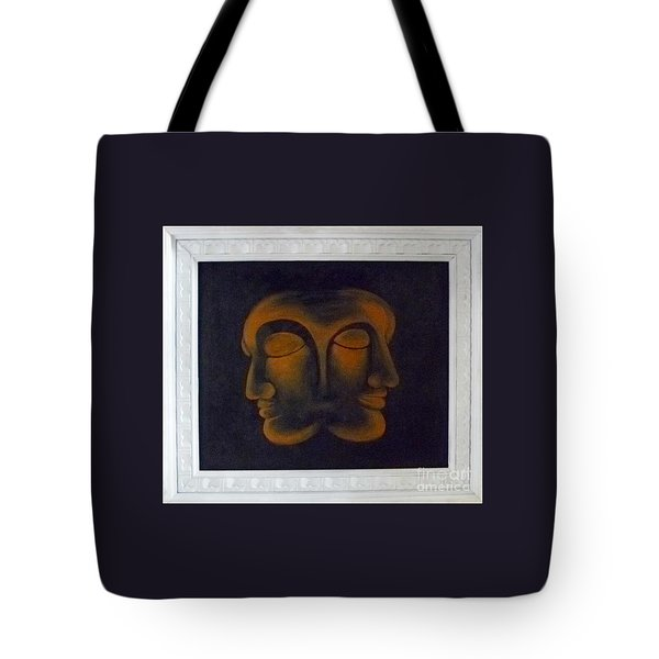 Tote Bag featuring the painting Us by Fei A