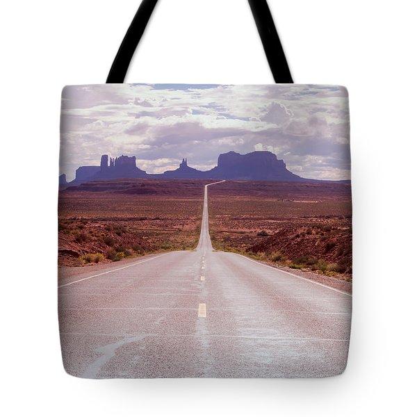 Us Highway 163 Tote Bag