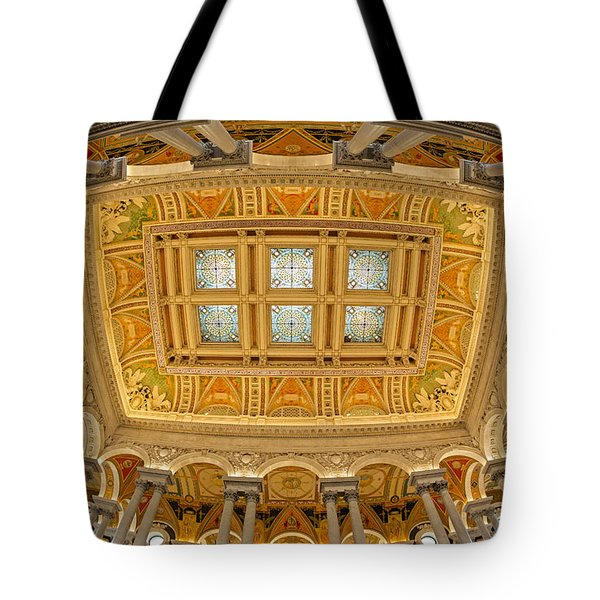 Us Library Of Congress Tote Bag by Susan Candelario
