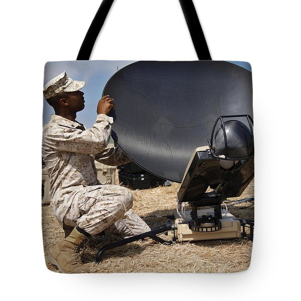 U.s. Marine Assembles A Support Wide Tote Bag by Stocktrek Images