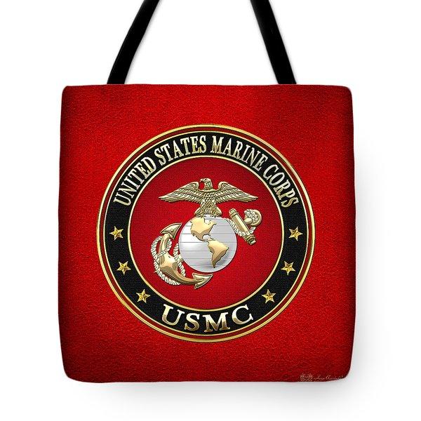 U. S. Marine Corps - U S M C Emblem Special Edition Tote Bag