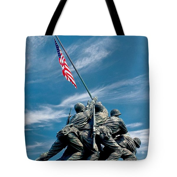 Us Marine Corps War Memorial Tote Bag