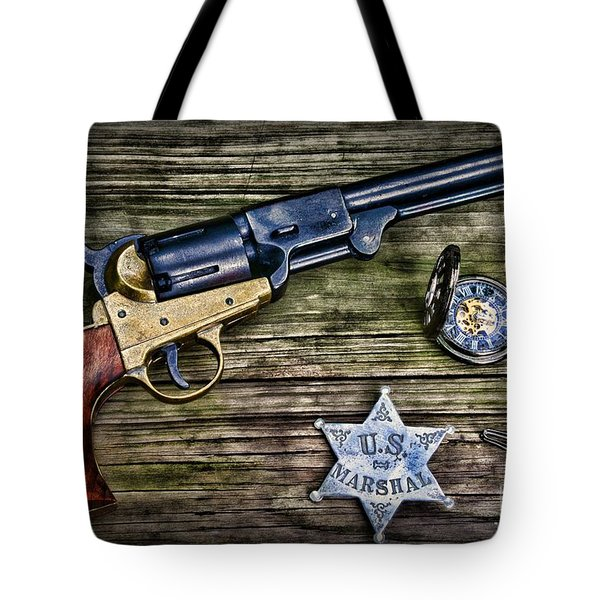 Us Marshall - American Justice - Cowboy Tote Bag by Paul Ward