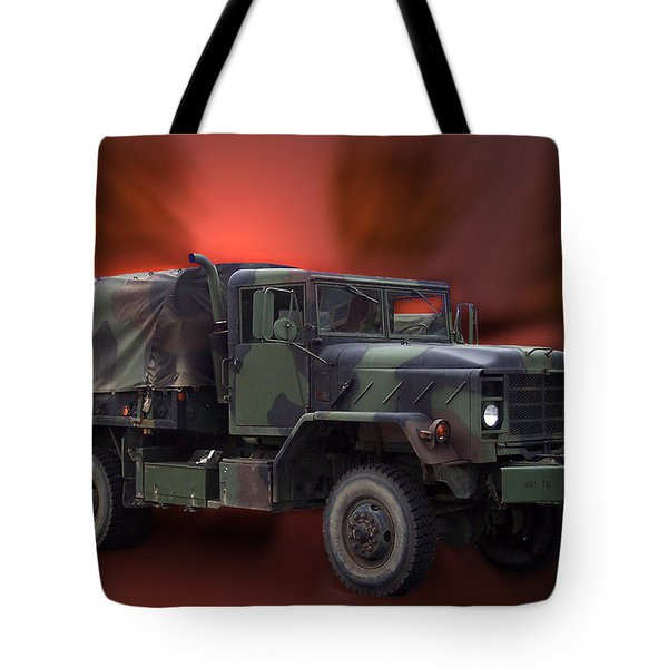 Us Military Truck Tote Bag by Thomas Woolworth