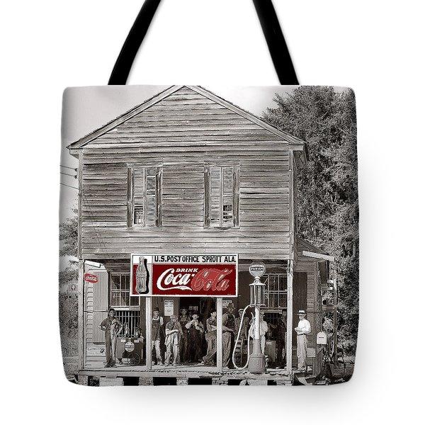 U.s. Post Office General Store Coca-cola Signs Sprott  Alabama Walker Evans Photo C.1935-2014. Tote Bag