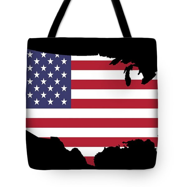 Usa And Flag Tote Bag by Pete Trenholm