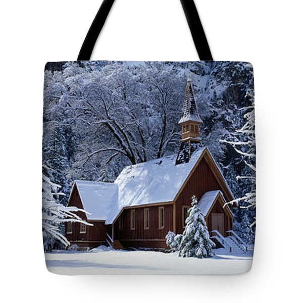 Usa, California, Yosemite Park, Chapel Tote Bag