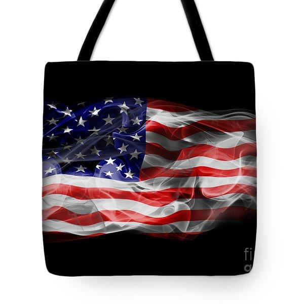 Usa Flag Smoke  Tote Bag by Jt PhotoDesign
