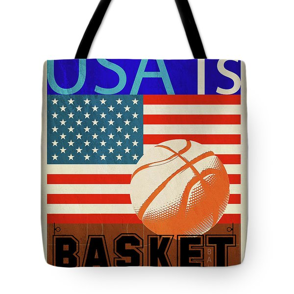 Usa Is Basketball Tote Bag