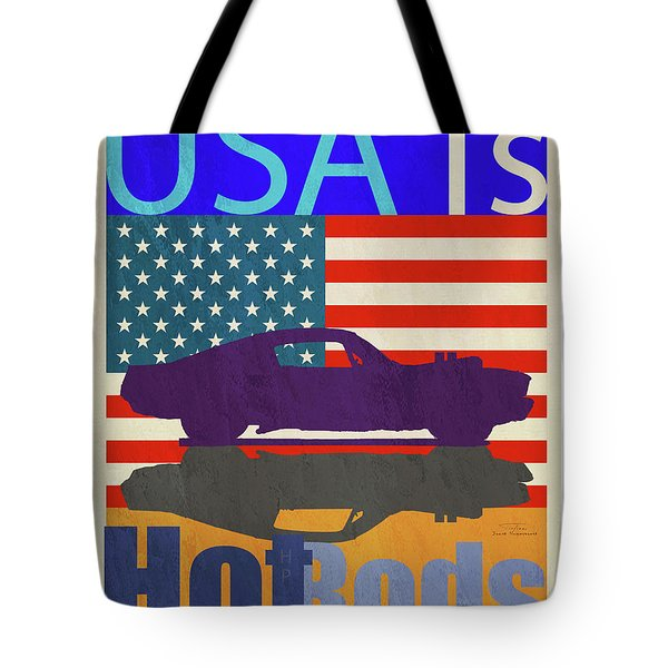 Usa Is Hot Rods Tote Bag