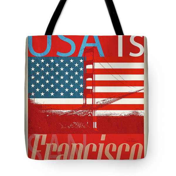 Usa Is San Francisco Red Tote Bag
