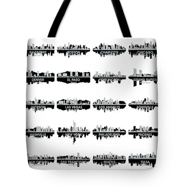 Usa Skylines 4 Tote Bag by Angelina Vick