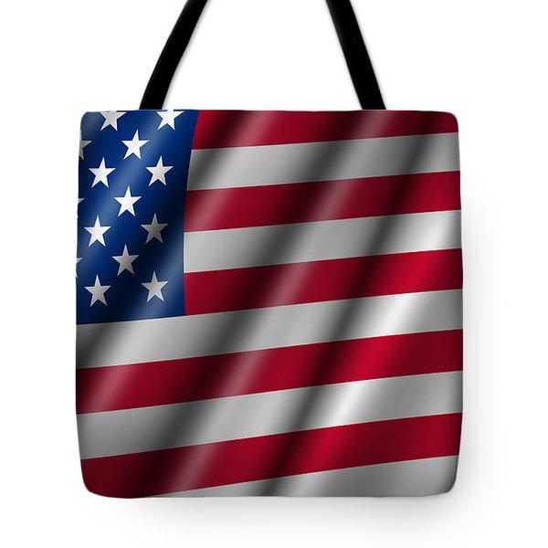 Usa Stars And Stripes Flying American Flag Tote Bag