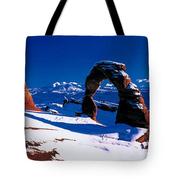 Usa, Utah, Delicate Arch, Winter Tote Bag