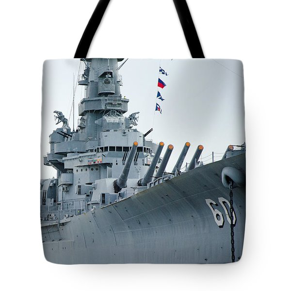 Tote Bag featuring the photograph Uss Alabama 3 by Susan  McMenamin