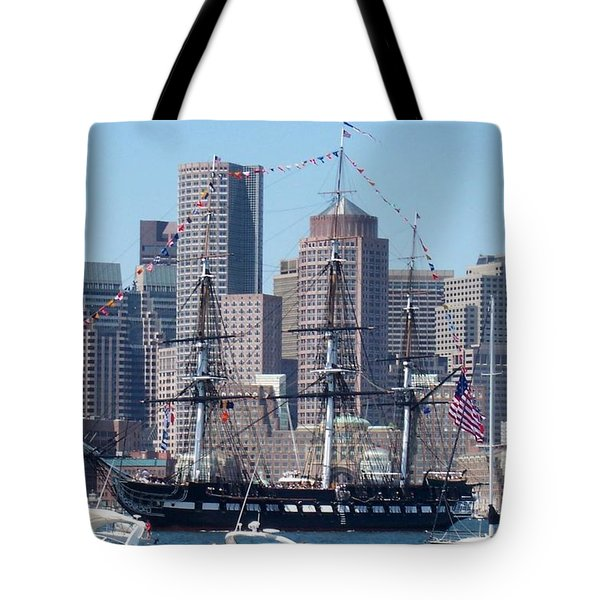 Uss Constitution Tote Bag by Catherine Gagne