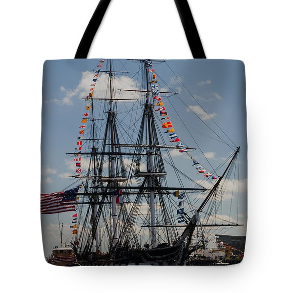 Tote Bag featuring the photograph Uss Constitution by Mike Ste Marie