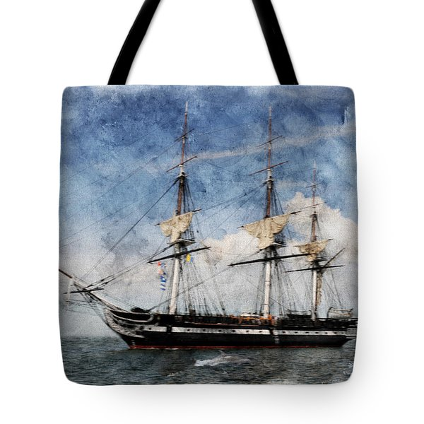 Uss Constitution On Canvas - Featured In 'manufactured Objects' Group Tote Bag