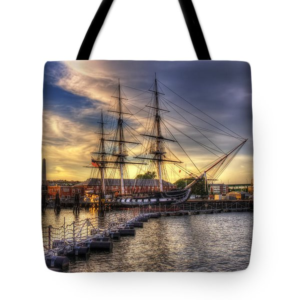 Uss Constitution Sunset - Boston Tote Bag