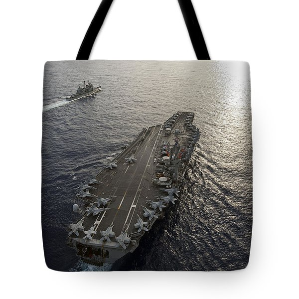 Uss George Washington And Uss Mobile Tote Bag