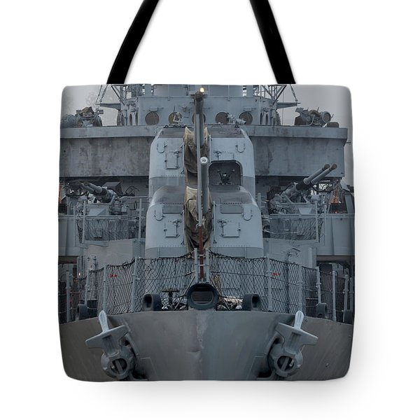 Uss Kidd Dd 661 Front View Tote Bag by Maggy Marsh